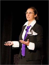 Nathalie Criou presenting at GreenStart 2012